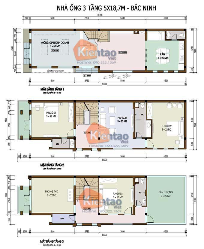 MB2 - Nhà phố 3 tầng 2 mặt tiền 5x18m