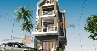 PC1 - Nhà phố 3 tầng 2 mặt tiền 5x18m hiện đại