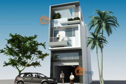 PC1 - Thiết kế nhà phố 3 tầng mặt tiền 5m có gác lửng tại Hà Đông