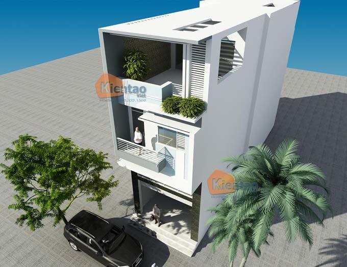 PC2 - Mẫu nhà phố 3 tầng có gác lửng
