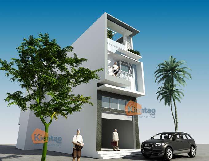 PC4 - Mẫu nhà phố 3 tầng có gác lửng tại Hà Đông