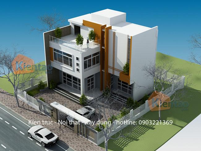 Tổng quan mẫu biệt thự 2 tầng 95m2 hiện đại tại Mê Linh