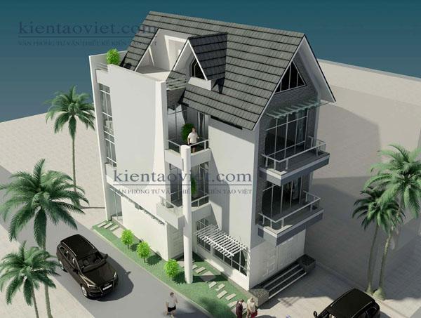Thiết kế biệt thự 3 tầng hiện đại 100m2 tại Từ Liêm - PC2