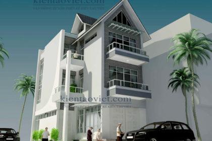 PC1 - Thiết kế biệt thự 3 tầng hiện đại 100m2 tại Từ Liêm
