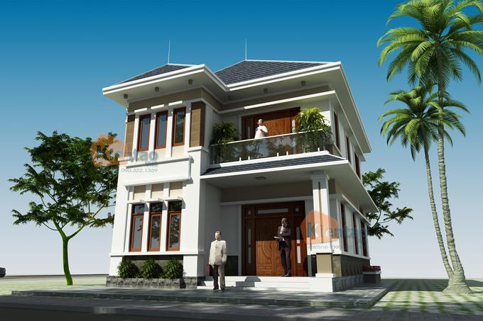 Mẫu biệt thự đẹp 2 tầng 110m2 tại Hải Phòng - Phối cảnh 05 - BT33