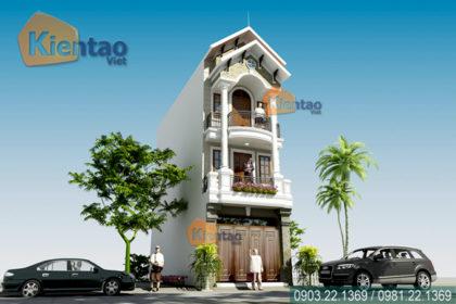 Mẫu nhà phố 3 tầng 4.2x18m giả biệt thự tại Hải Phòng - Phối cảnh kiến trúc 01 - NP37