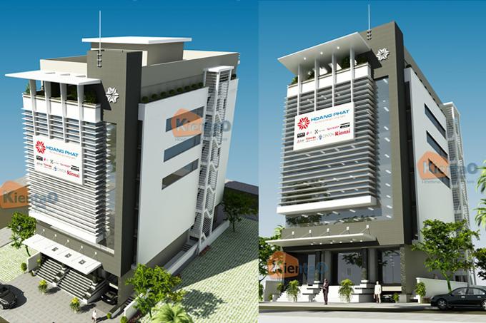Mẫu nhà phố 8 tầng kết hợp kinh doanh rộng 14x30m tại Hải Phòng - Phối cảnh kiến trúc - NP38