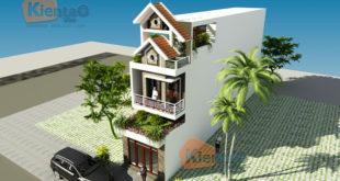 Thiết kế nhà phố 3 tầng 1 lửng 4.1x24m tại Hải Phòng - Phối cảnh kiến trúc 01 - NP39