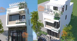 Thiết kế nhà phố tại Hải Phòng cao 2,5 tầng rộng 4,5x12m - Phối cảnh 01