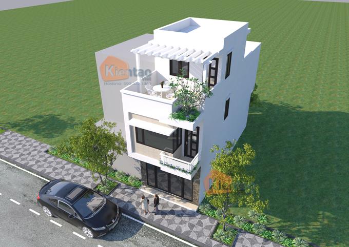 Thiết kế nhà phố tại Hải Phòng cao 2.5 tầng rộng 4.5x12m - Phối cảnh 03