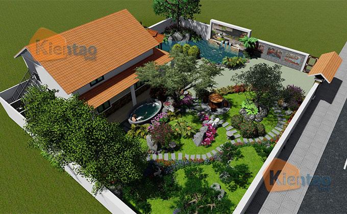 Mẫu nhà vườn 1.5 tầng 56m2 trong khu đất 500m2 tại Đồng Nai - PC Tổng thể 01