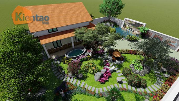 Mẫu nhà vườn 1.5 tầng 56m2 trong khu đất 500m2 tại Đồng Nai - PC Tổng thể 02