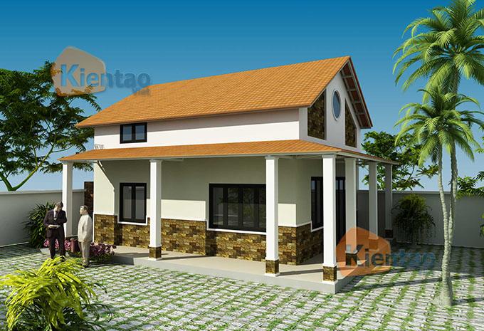 Mẫu nhà vườn 1.5 tầng 56m2 trong khu đất 500m2 tại Đồng Nai - PC kiến trúc 01