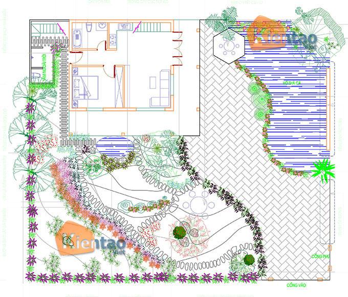 Mẫu nhà vườn 1.5 tầng 56m2 trong khu đất 500m2 tại Đồng Nai - MB Quy hoạch tổng thể