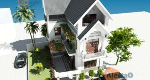 Mẫu biệt thự đẹp 3 tầng 62m2 tại Thanh Trì HN - Phối cảnh 04