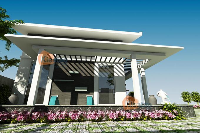 Mẫu biệt thự vườn 2 tầng 200m2 hiện đại tại Thái Bình - Phối cảnh 05