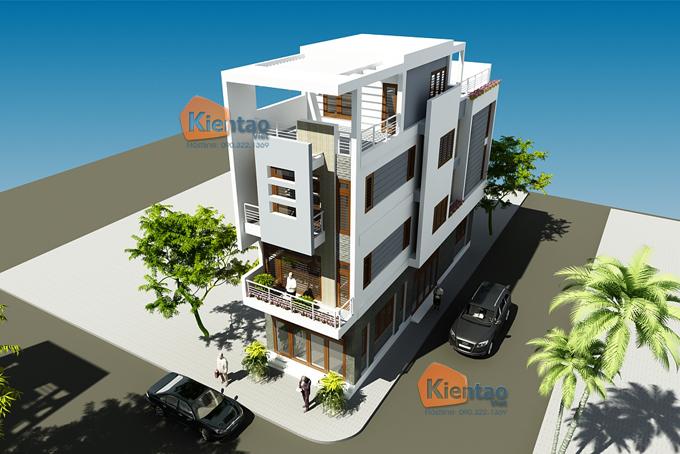 Mẫu nhà phố 4 tầng 5x17m hiện đại tại Hưng Yên - Phối cảnh 01