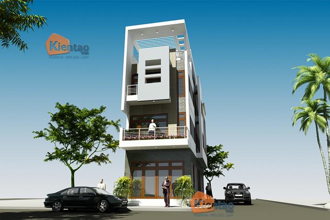Mẫu nhà phố 4 tầng 5x17m hiện đại tại Hưng Yên - Phối cảnh 04