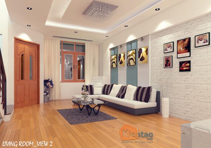 Mẫu nhà phố hiện đại 3 tầng 5.5x17.5m có gara tại Hưng Yên - Nội thất 01