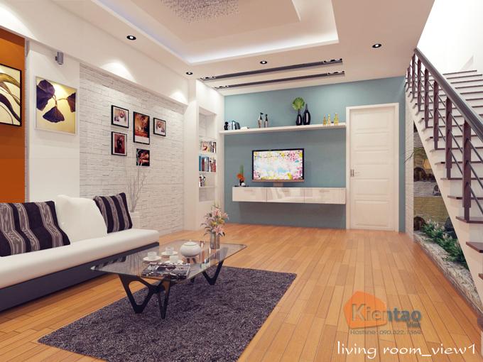 Mẫu nhà phố hiện đại 3 tầng 5.5x17.5m có gara tại Hưng Yên - Nội thất 02