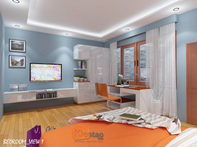 Mẫu nhà phố hiện đại 3 tầng 5.5x17.5m có gara tại Hưng Yên - Nội thất 03