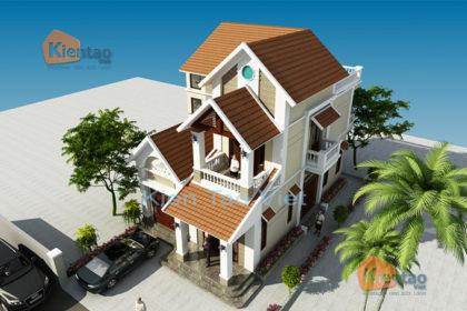 Nhà biệt thự 2 tầng cách tân 120m2 tại Sơn Tây HN - Phối cảnh 02