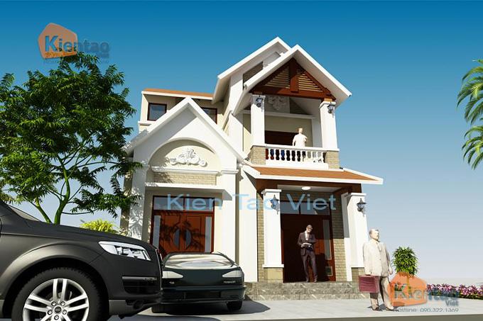 Nhà biệt thự 2 tầng cách tân 120m2 tại Sơn Tây HN - Phối cảnh 03