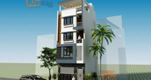 Nhà phố 5 tầng 6x11m kết hợp kinh doanh, có thang máy tại Long Biên - Phối cảnh 01