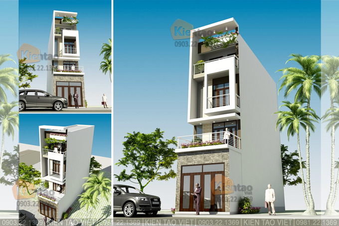 Nhà phố hiện đại 4 tầng 4.2x17m tại Phú Xuân, Thái Bình