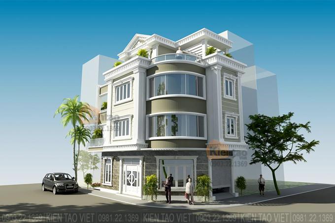 Nhà phố lô góc 3 tầng 7x13.5m kiến trúc biệt thự Pháp tại Hải Dương