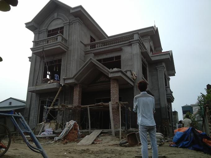 Thiết kế biệt thự Pháp 3 tầng 135m2 tại Thanh Trì - Thi công hoàn thiện 01