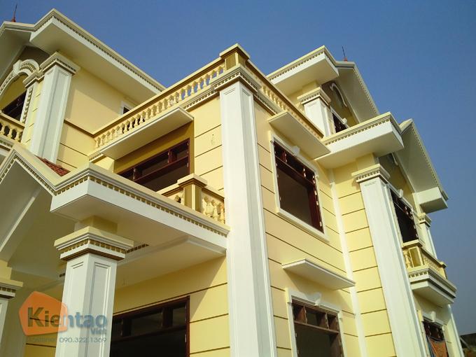Thiết kế biệt thự Pháp 3 tầng 135m2 tại Thanh Trì - Thi công hoàn thiện 03