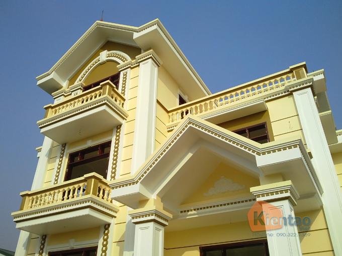 Thiết kế biệt thự Pháp 3 tầng 135m2 tại Thanh Trì - Thi công hoàn thiện 04
