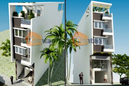 Thiết kế nhà phố hiện đại 5 tầng 4x15m tại Thái Bình - Phối cảnh 02