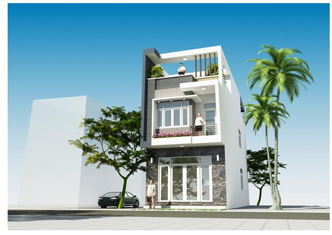 Nhà phố hiện đại 3 tầng mặt tiền 5m