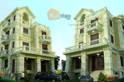 Mẫu biệt thự kiểu Pháp 4 tầng 125m2 tại Sóc Sơn Hà Nội - Phối cảnh tổng thể